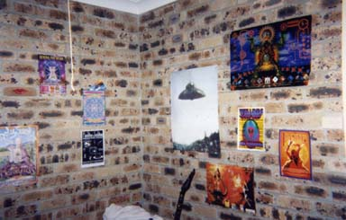 Photo of the small room in which I had a mystical vision which revealed to me something of the nature of time