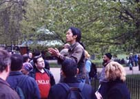 Me speaking at Hyde park Speakers Corner
