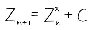 Picture of the Equation which captures the Mandelbrot set